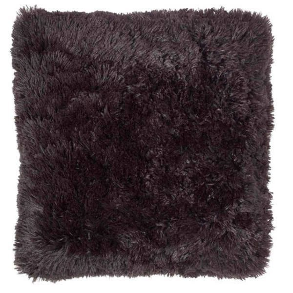 Cuddly Fluffy Cushion Cover – Black