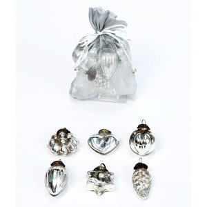 Silver Baroque Mini Decorations