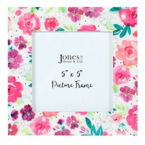Floral Fusion Square Photo Frame