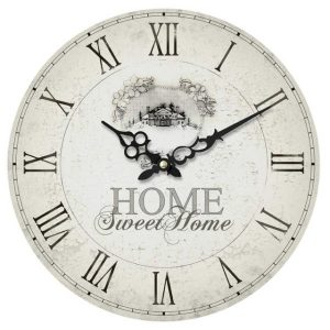 Home Sweet Shabby Chic Wall Clock
