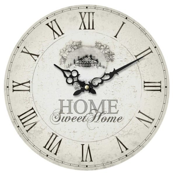 Home Sweet Shabby Chic Wall Clock