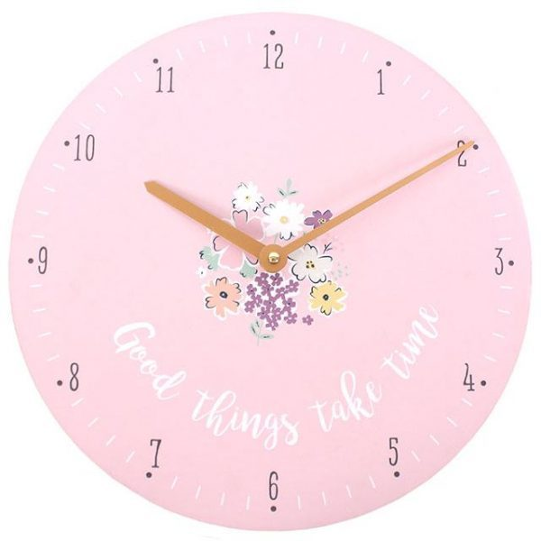 Goods Things Take Time Wall Clock