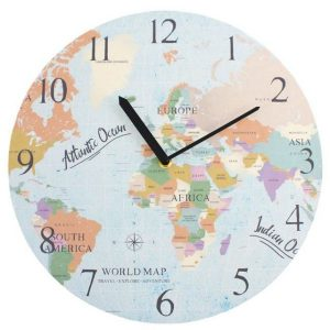 Lovely Colorful Map Clock