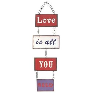 Love Is All You Need Wall Plaque
