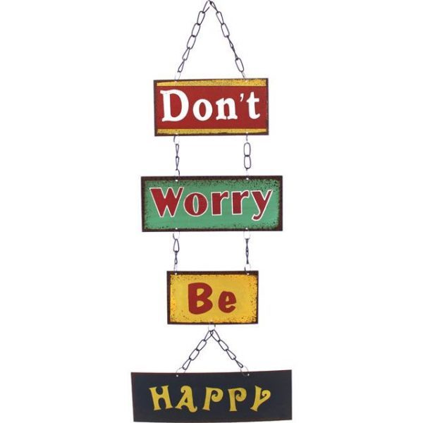 Don't Worry Wall Wall Plaque