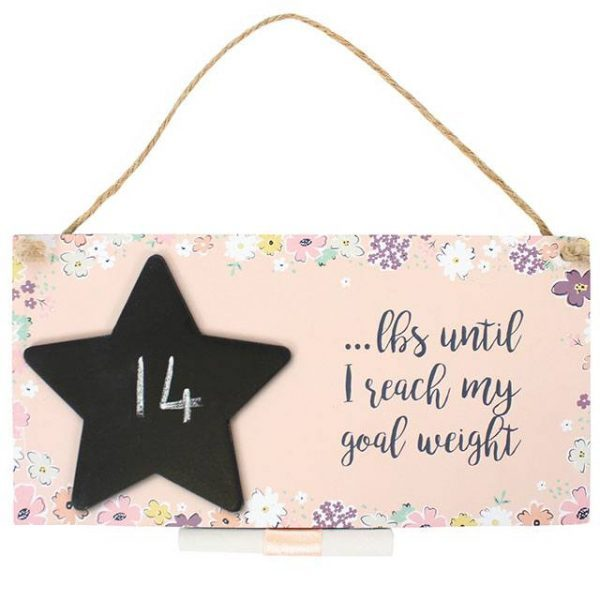 Goal Weight Countdown Wall Plaque
