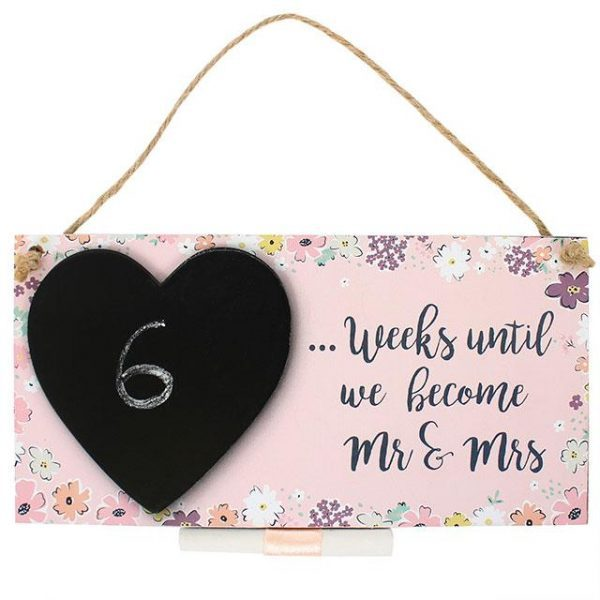 Mr & Mrs Countdown Wall Plaque