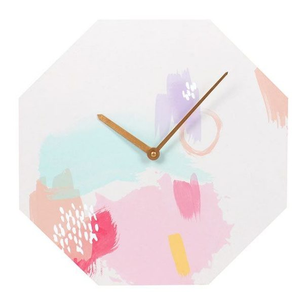 Octagon Shaped Wall Clock