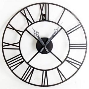 Stunning Metal Roman Numeral Clock