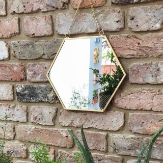 Add a stylish and practical touch with our gold metal-edged hanging mirror in a cool hexagon shape. It has a gold-effect chain for hanging, that make a real impact anywhere in your home. Click image to shop or visit www.kalaful.co.ke . . . #homeaccessories #kalaful_decor #happy #homedecorkenya #instagood #interiordesign #mirror #decor #homedecor #homeinspiration #homestyle #interior #interiorinspiration #interiorstyling #livingroomdecor #mirrordecor