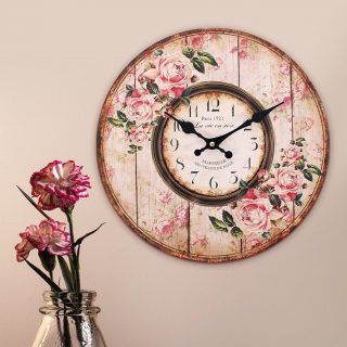 Back In Stock 💃🎉 A vintage style wall clock with a floral pink shabby chic design. Ideal for a girl bedroom. Tap image to order #homeaccessories #bedroomdecor #kalaful_decor #bestsellers #onlineshoppingkenya #shopping #kenya #homedecorkenya